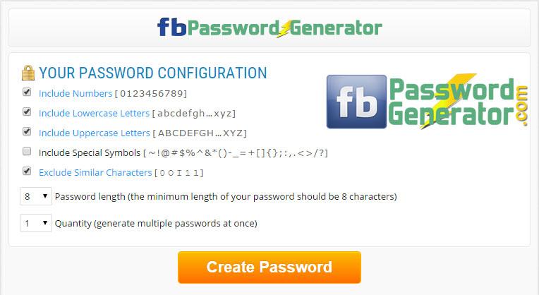 Facebook Password Generator Site