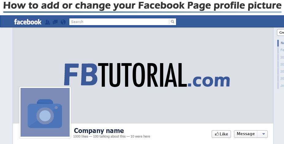Add or Change Facebook Page Profile Picture