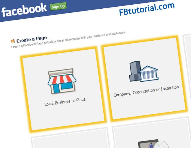 How to create a Facebook page for your Business | FBtutorial.com