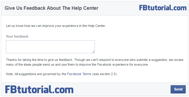 Facebook Feedback Form - Help Center