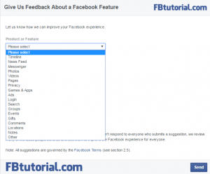 Facebook Feedback Form - Products & Features