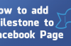 How to add milestone to Facebook Page