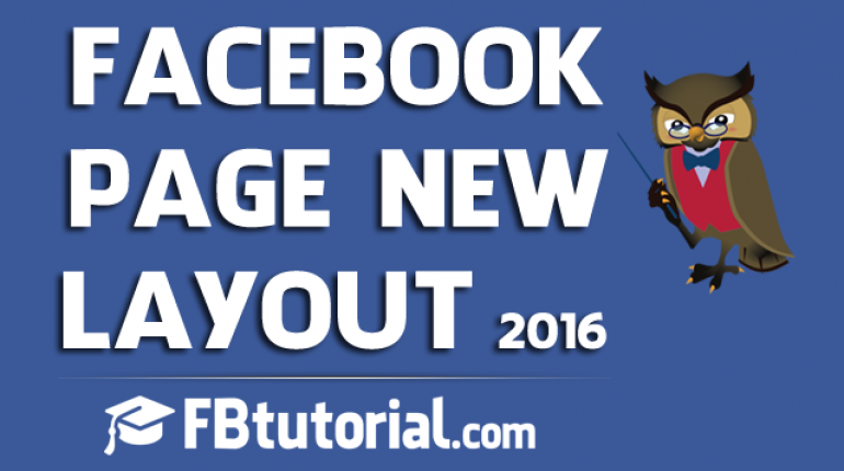 Facebook Page New Layout 2016