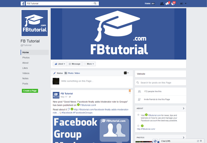 New Facebook Page Look (June 2016)