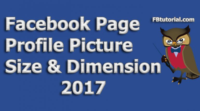 Facebook Page Profile Picture Size & Dimension
