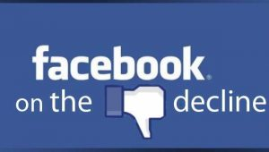 Facebook dying and in decline