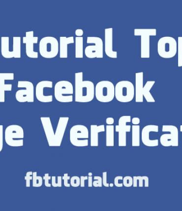 Facebook Page Verification - FBtutorial