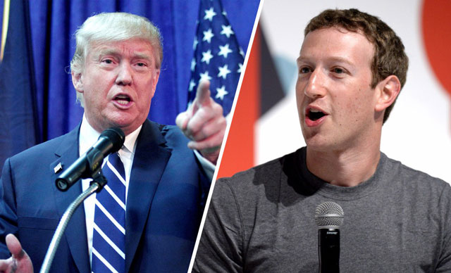 Donald Trump vs Mark Zuckerberg