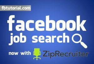 Facebook Job Search ZipRecruiter
