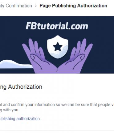 Page Publishing Authorization