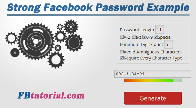 Strong Facebook Password Tip
