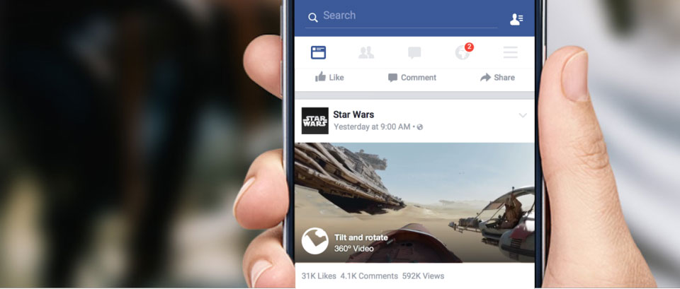 360 Videos in Facebook Newsfeed