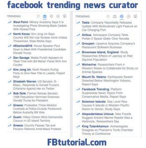 Facebook Trending News Curator