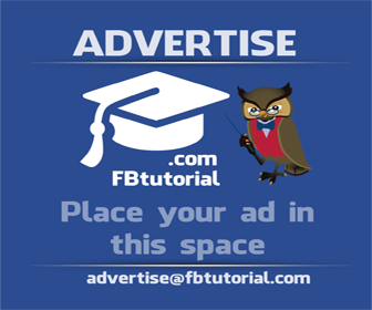 FBtutorial advertising banner