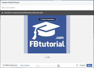 Facebook Page Profile Photo too small