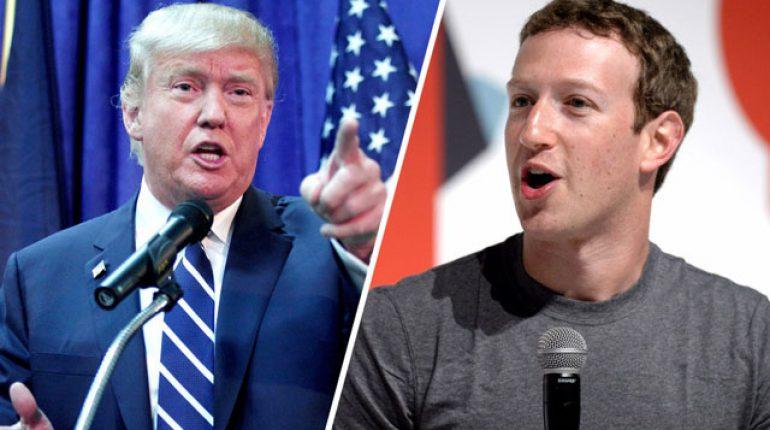 Donald Trump vs Mark Zuckerberg