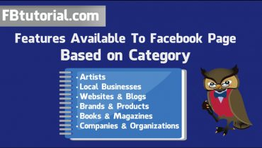 Facebook Page Category Features
