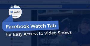Facebook Watch Tab Homepage