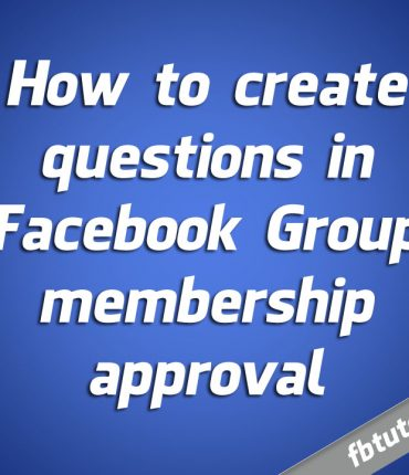 Create questions in Facebook Group